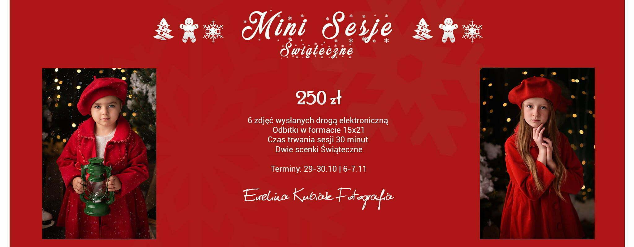 plakat mini sesji świątecznej